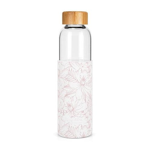 Bouteille en verre 500ml - hibiscus