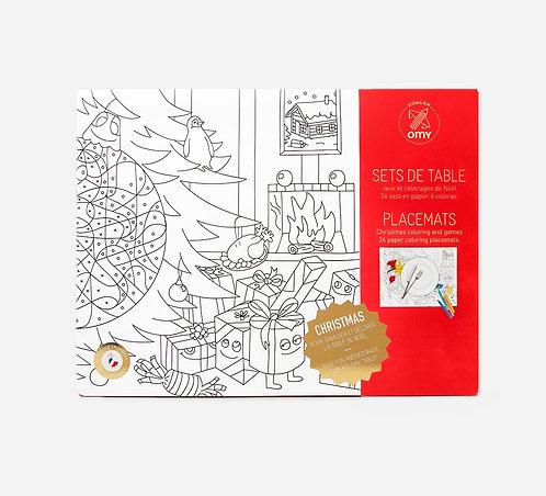 Sets de table à colorier / Noël