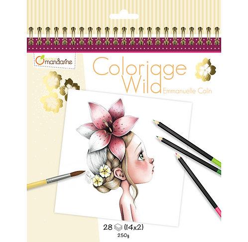 Carnet de coloriage Wild
