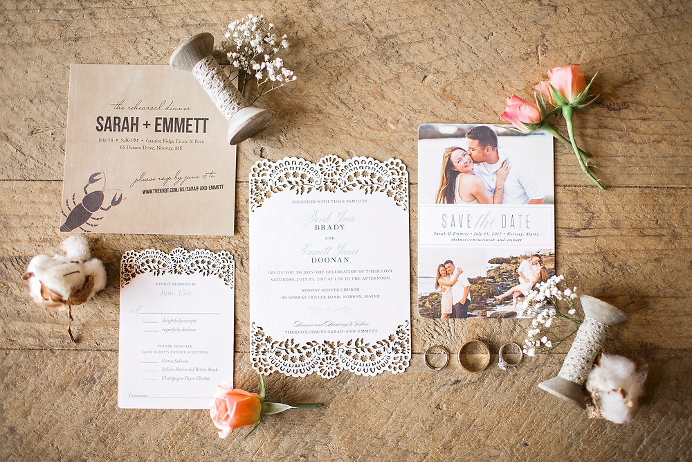 lovely rustic chic invitation suite