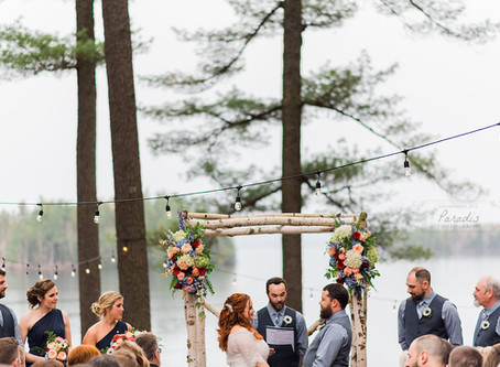Lakeside Maine: Migis Lodge Wedding