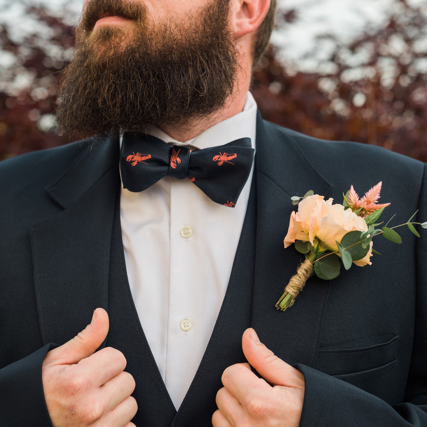 Groom with Willow Moon Florals