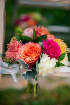 Floral arrangement by Harmon's & Barton's