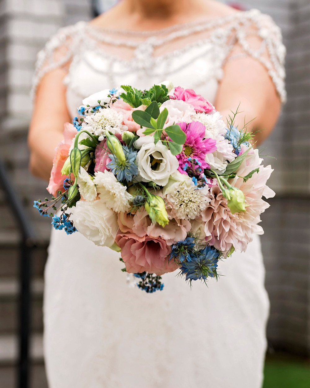 stem and vine created bride bouquet for biddeford pool maine weddings