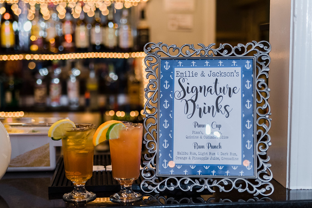 signature drinks are popular at maine weddings