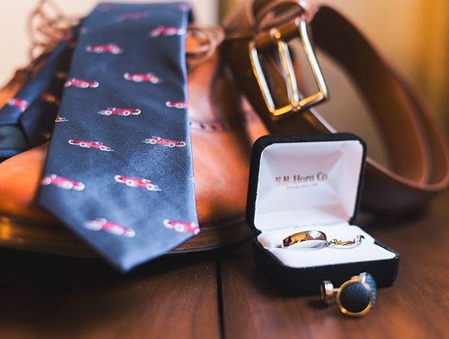 neck tie shoes belt wedding rings