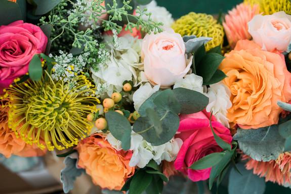 Wedding flowers by Harmon's & Barton's in Portland, Maine