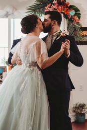 Winter Ceremony Kiss