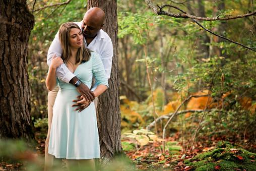 Maine Woods Couple