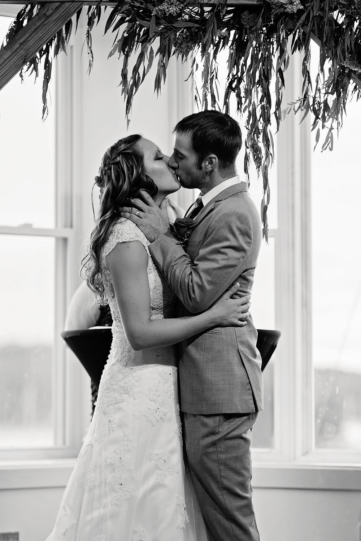 bride and groom at belfast maine weddings