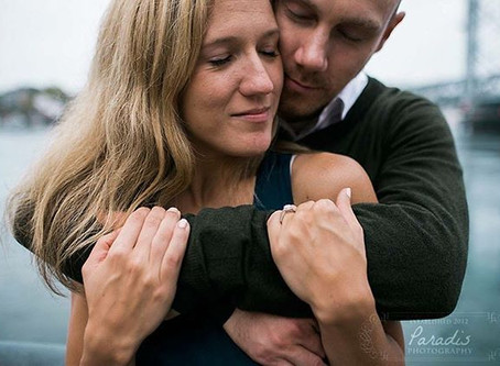 Engagement Session with Champagne in Portsmouth, NH
