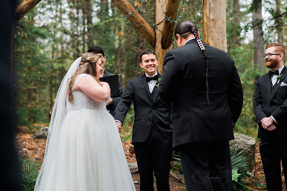 maine woods wedding ceremony
