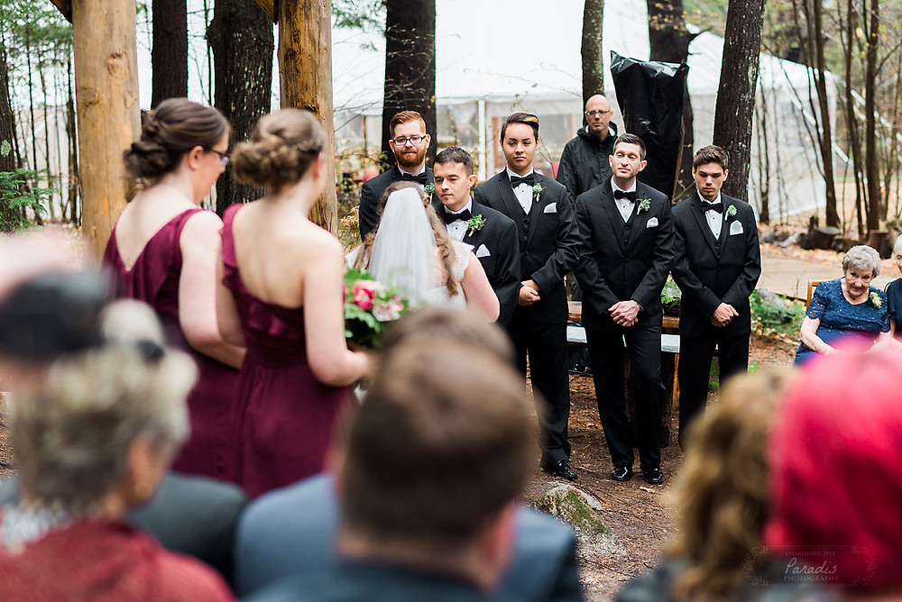 maine wedding in the woods