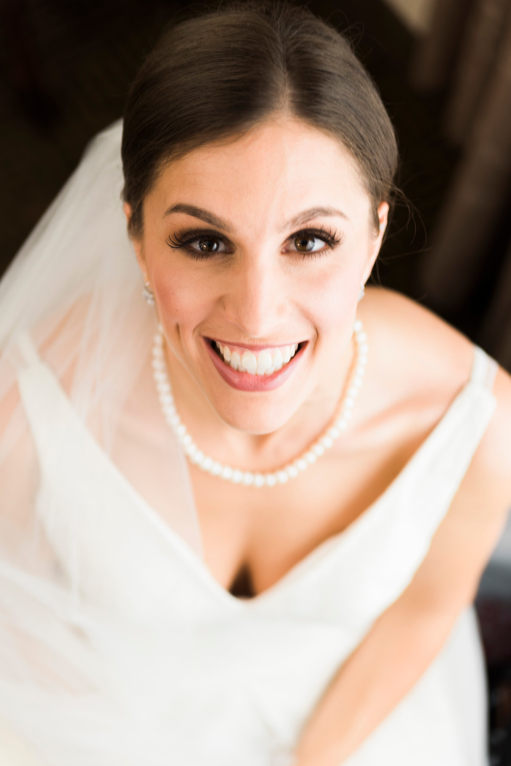 maine bride before she sees her groom at St Josephs church in portland maine