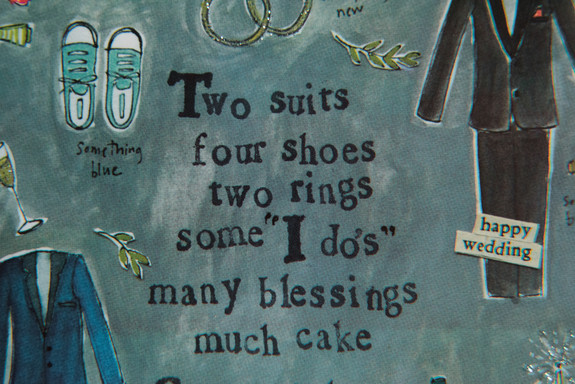 Two suits, four shoes, two rings, some I do's, many blessings, much cake