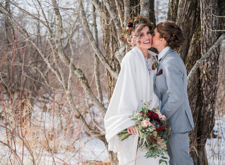 Snow and Saltwater A Maine Winter Elopement