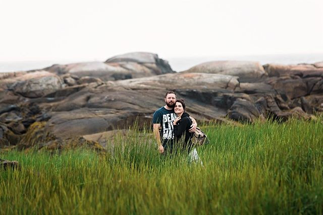 couple in dune grass in biddeford pool maine