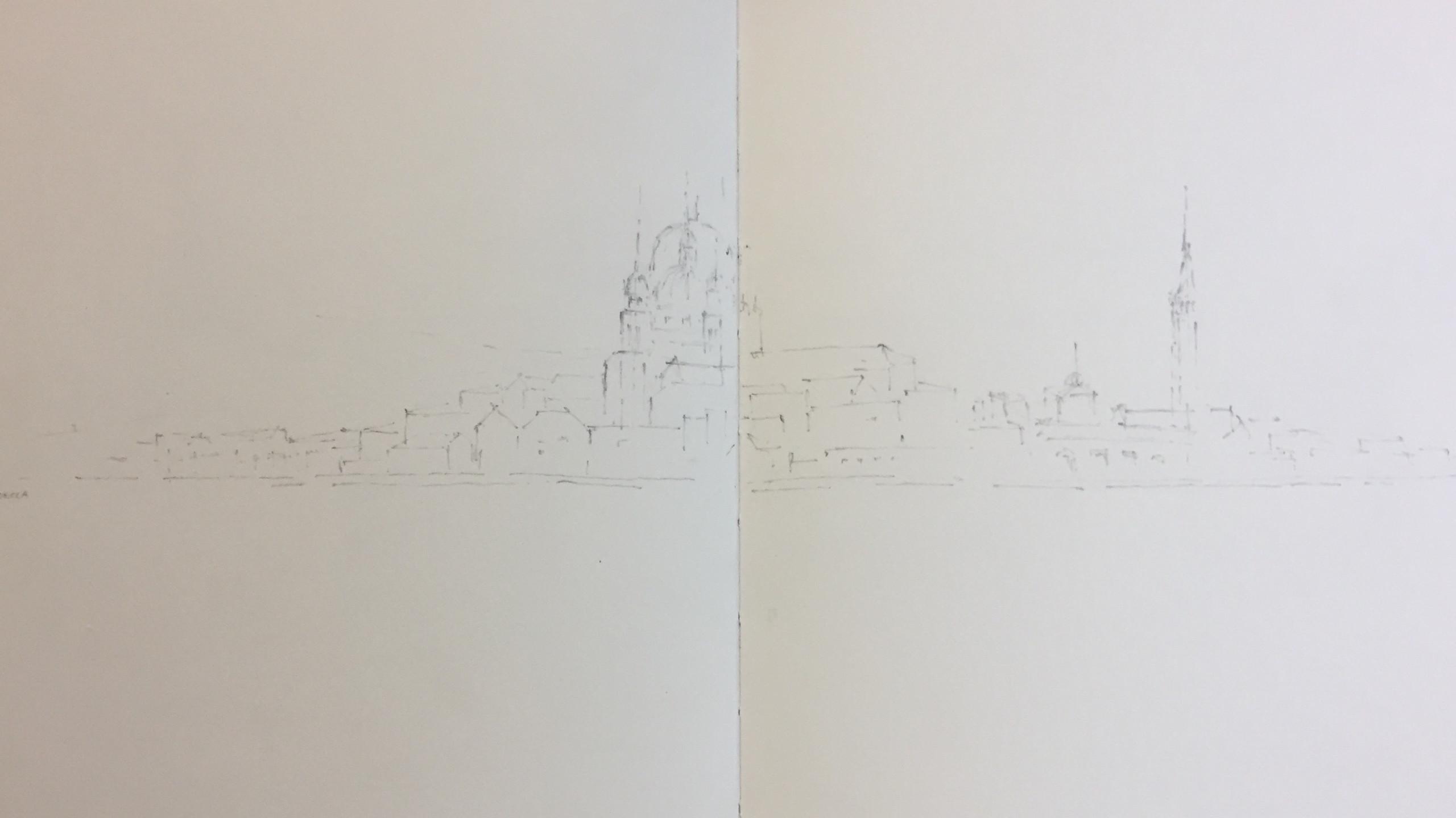 Venedig Zeichnung Michelle Weck
