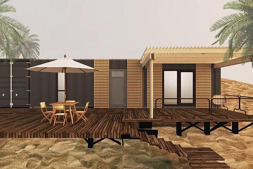 Exterior decoration package, terrace, pergola.  USD for