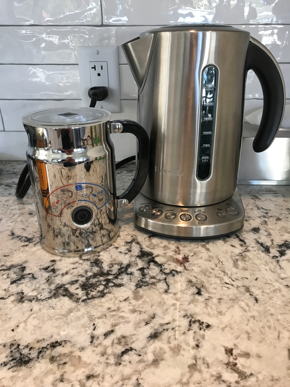 We can't live without our Breville kettle and milk steamer!