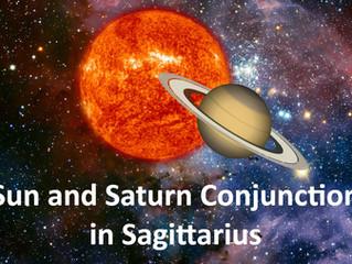 Sun and Saturn Conjunction in Sagittarius