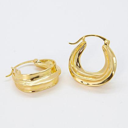 Gold Emma Hoop Earring