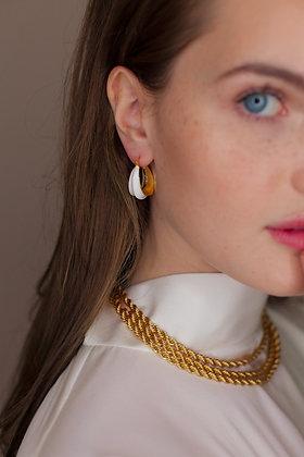 White Emma Hoop Earring