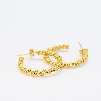 Gold Riley Twist Earring