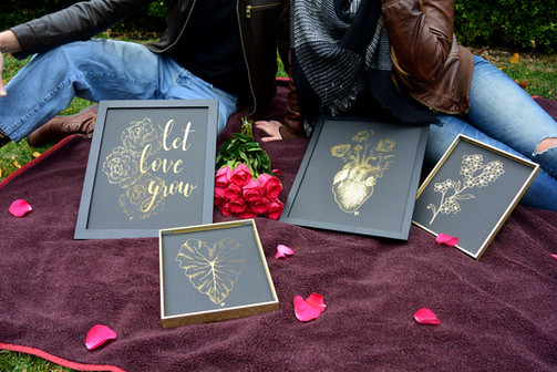 Let Love Grow (11x14), Taro Leaf (8x10), Wild at Heart (11x14), Forget Me Not (8x10)