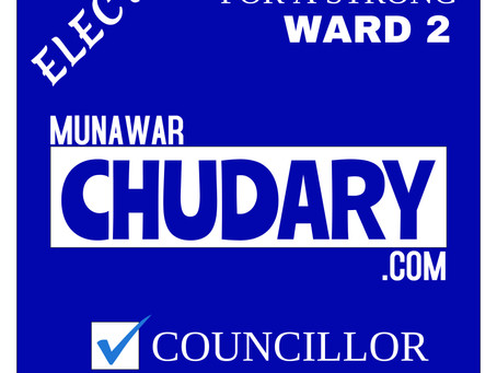 Elect Munawar Chudary For A Strong Ward 2