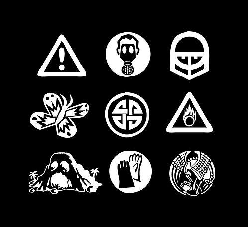 Brochas digitales: Símbolos