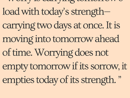 Worrying Is a Choice
