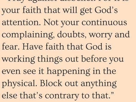 Pray and Do in Faith
