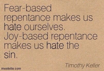 Repenting in Joy
