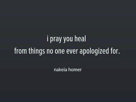 Forgiveness...healing