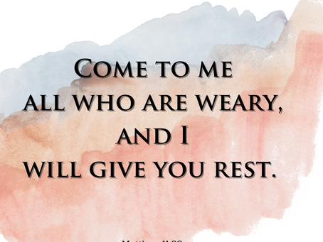 When You're Weary