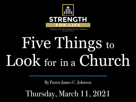 Five Things to Look for in a Church