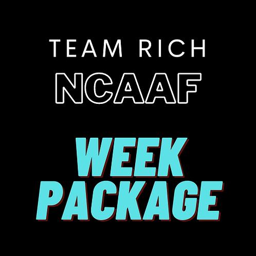 Team Rich NCAAF Week Package