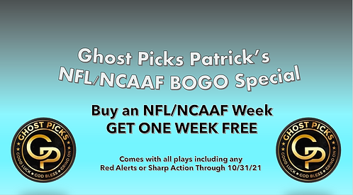 Patrick's NCAAF/NFL Week BOGO Special