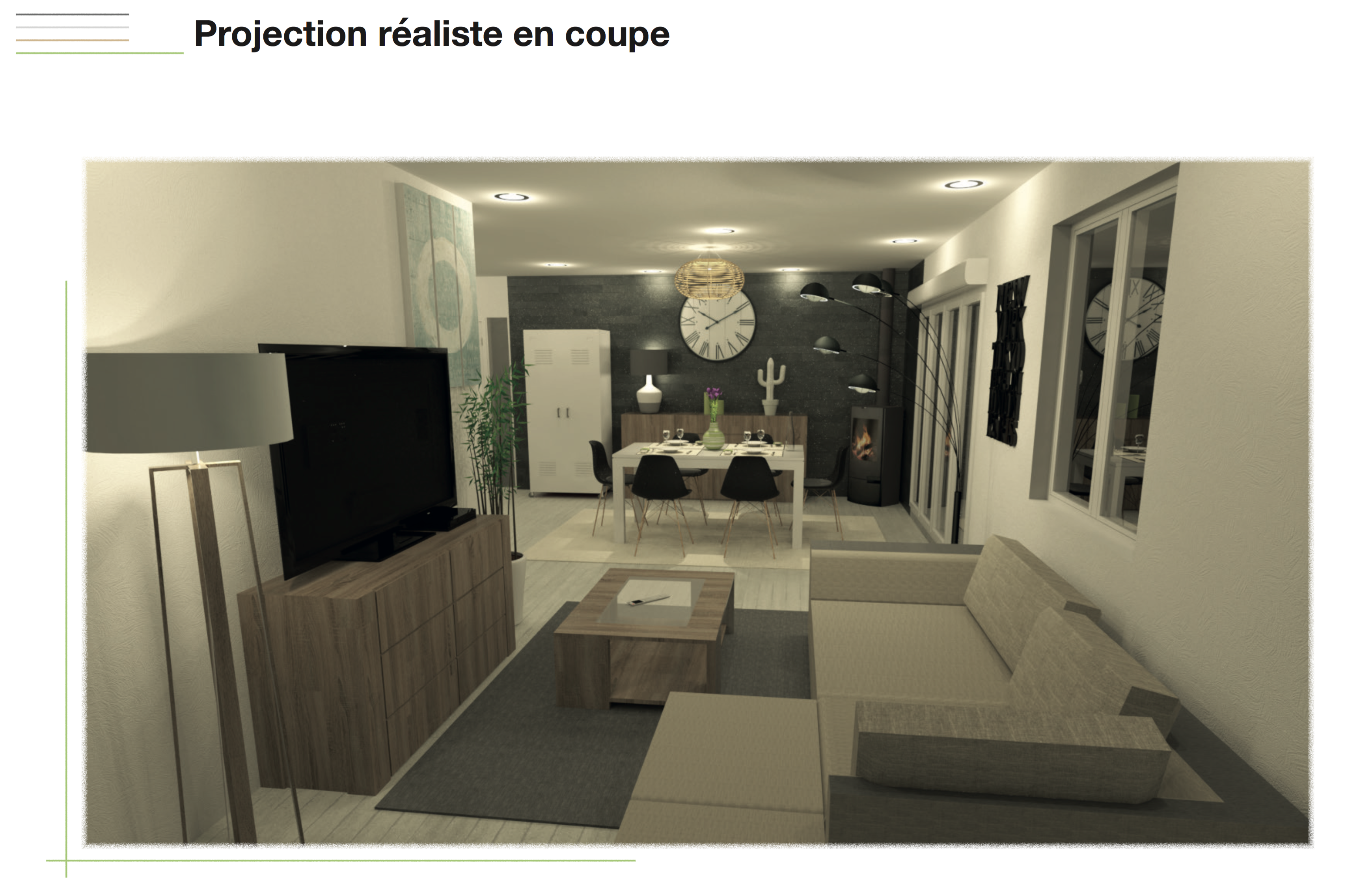 Planche de projection