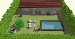 Projection piscine