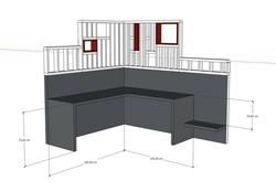 3D Bureau sur mesure