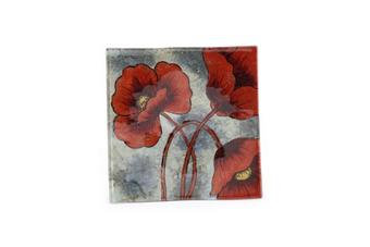 Poppy Glass Plate