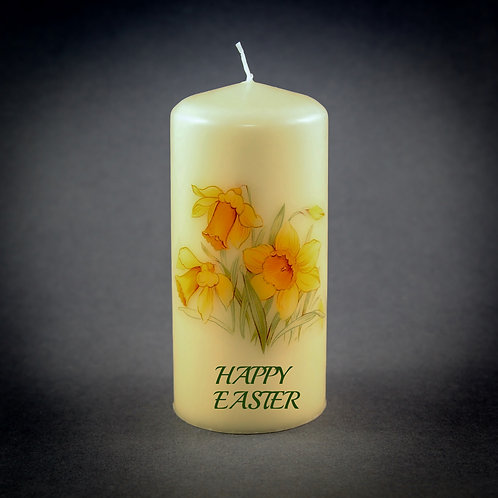 Happy Easter Daffodil Candle