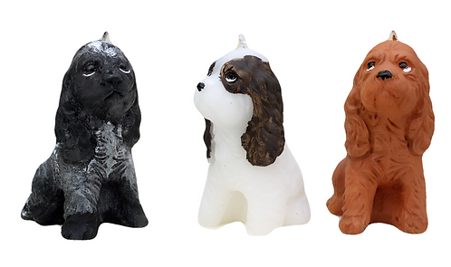 Spaniel Candle