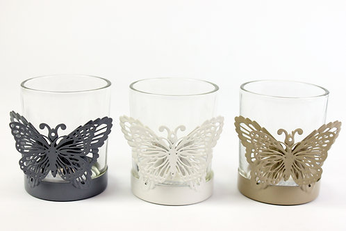 Butterfly Tealight Holder with scented candle