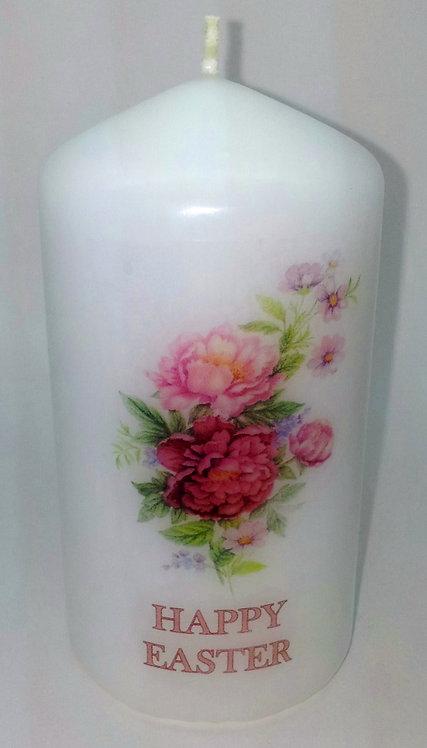 Scented Floral Bouquet Peonie Pillar