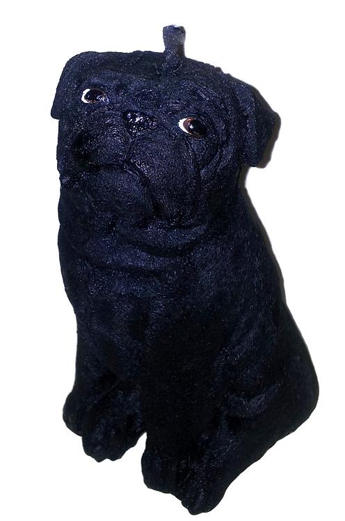 Black Pug Candle