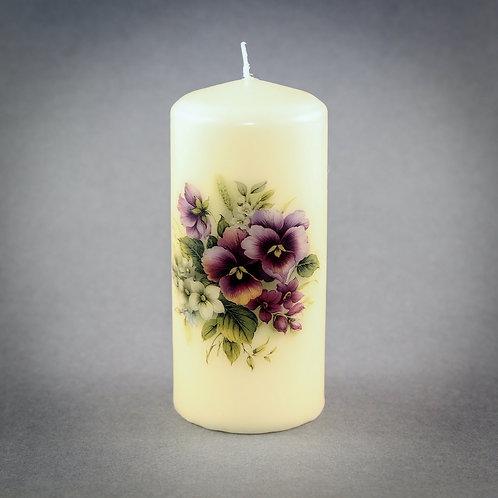 Violas Pillar Candle