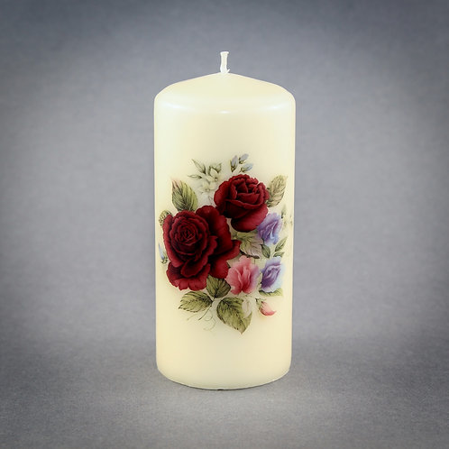 Ruby Rose Pillar Candle
